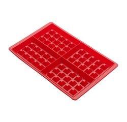 compra en línea Juego de 2 moldes para 8 gofres de silicona (20 x 19 x 2 cm)