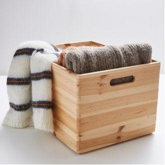 Cassa multi uso in legno con maniglia 30x40x24