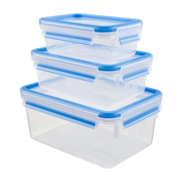 Achat en ligne Lot 3 boites conservation plastique Clip&Close 0,55L/1L/2,3L