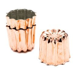 compra en línea Set de 3 moldes forma flan cannelé Chevalier Diffusion (Ø5,5 cm)