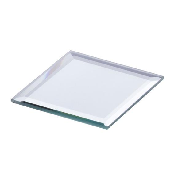 Achat en ligne Plateau bougie carré miroir 10x10cm