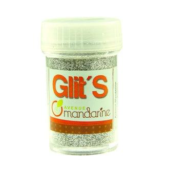 Paillettes argentées Glit's en flacon 14 g