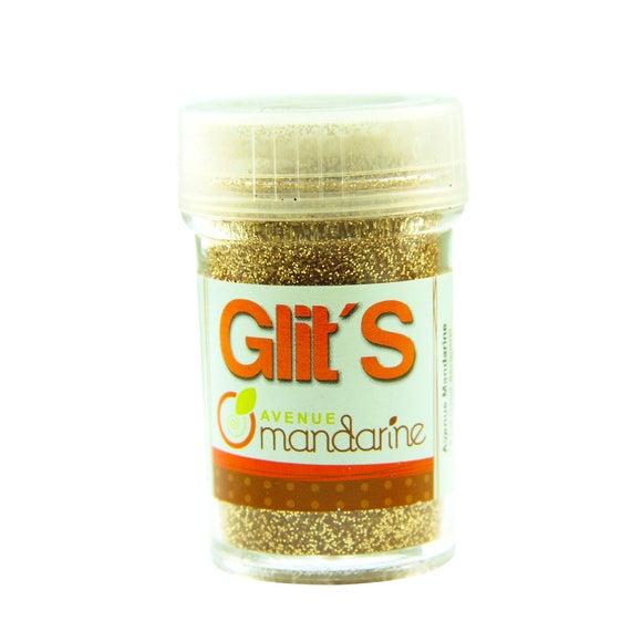 compra en línea Purpurina dorada de Glit en un bote (14 gr)