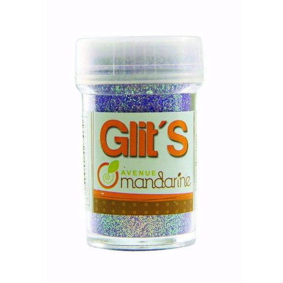Achat en ligne Paillettes flurorescentes violettes Glit's en flacon 14 g