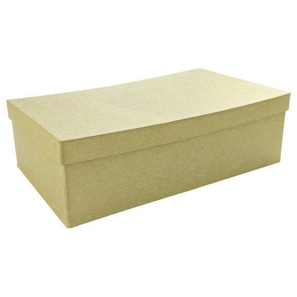 Boîte à décorer rectangulaire en papier mâché 22x13x5cm