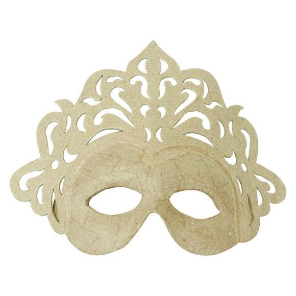 Masque princesse en papier mâché 23cm