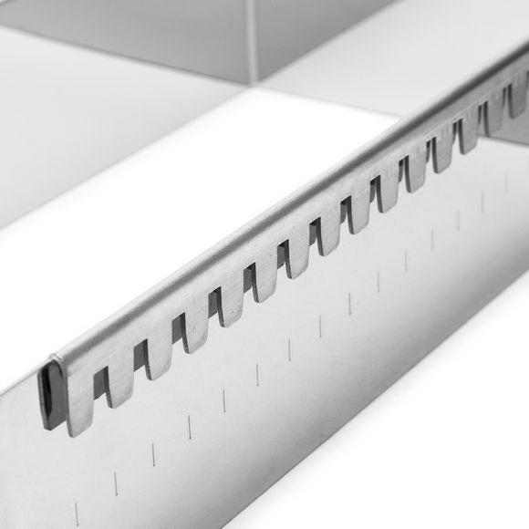Cornice estensibile in acciaio inossidabile 37x37x5cm