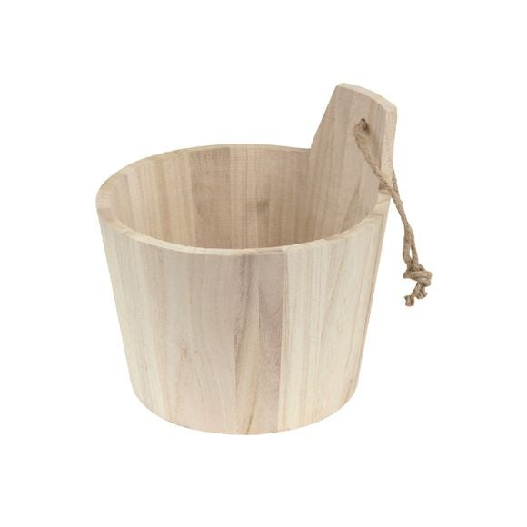 Seau sauna en bois naturel