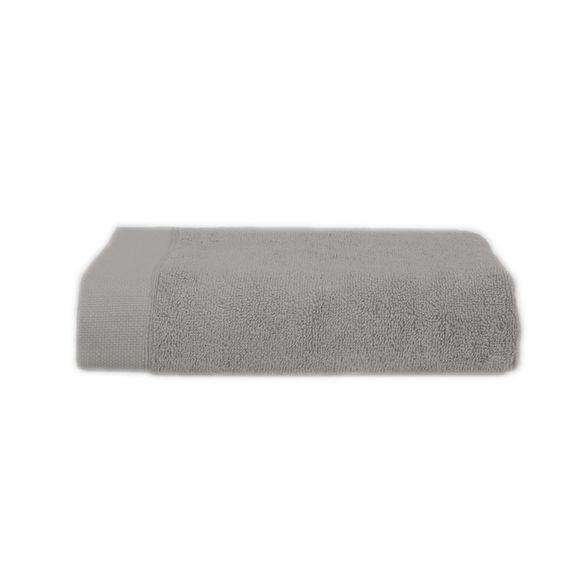 Serviette de toilette 50x100cm en coton éponge cendre