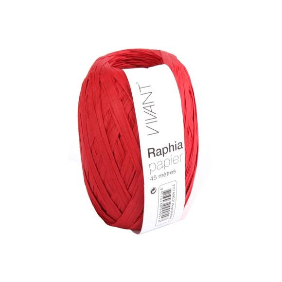 Achat en ligne Raphia papier rouge 4,5x4cm
