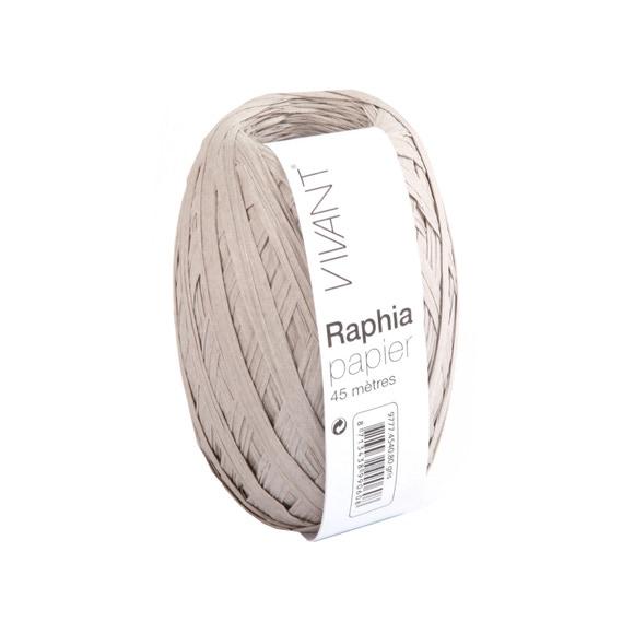 Achat en ligne Raphia papier gris 4,5x4cm