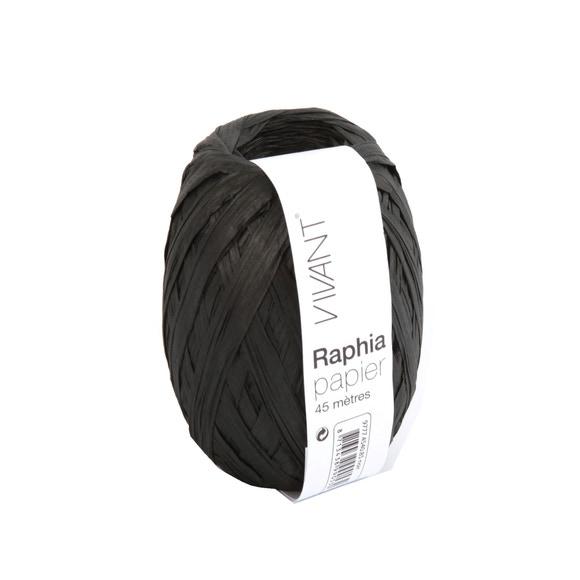 Achat en ligne Raphia papier noir 4,5x4cm