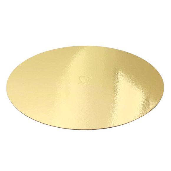 compra en línea Set 5 bases redondas cartón dorado de tarta Cerf Dellier (Ø26 cm)