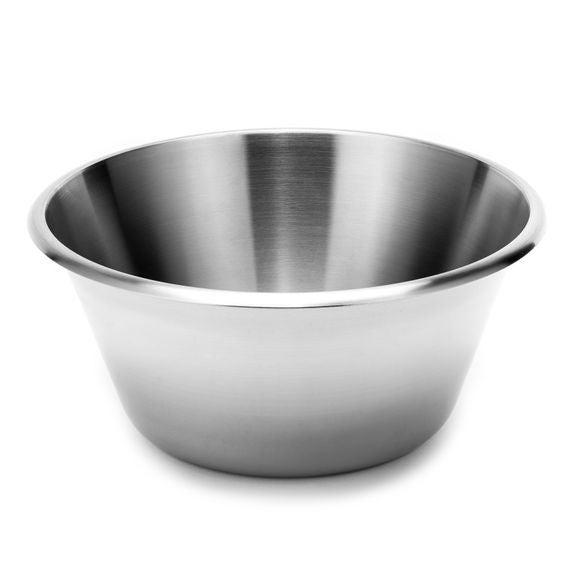 Ciotola fondo piatto in acciaio inox da 24 cm