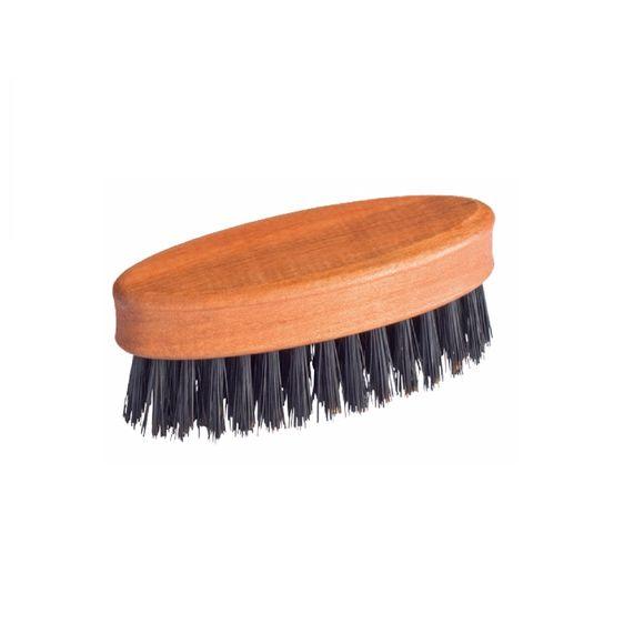 Brosse à barbe ou moustache en bois de poirer huilé 2,8x8cm
