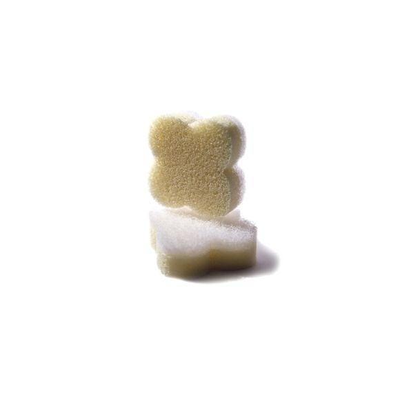 Set de 2 éponges démaquillante exfoliante