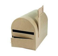compra en línea Caja de papel maché con forma de buzón (29 x 21 x 22 cm)