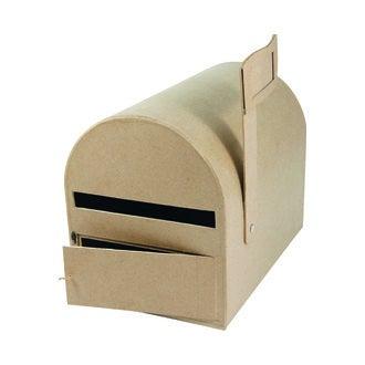 Urne forme boîte aux lettres en papier mâché 29x21x22cm