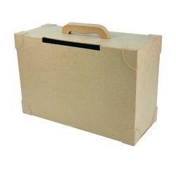 compra en línea Caja de papel maché en forma de maleta (35,5 x 25,5 x 14,5 cm)