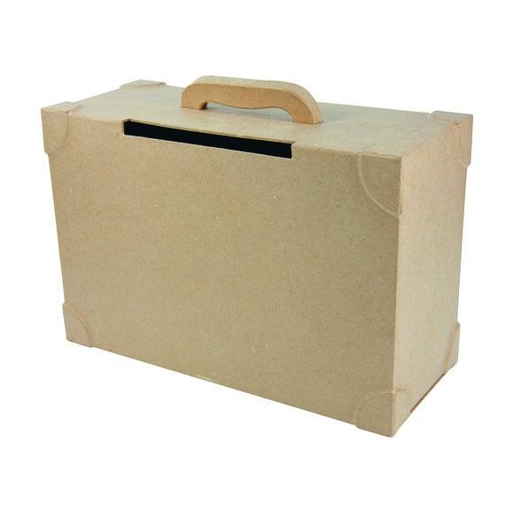 Urne forme valise à décorer papier mâché 35,5x25,5x14,5cm