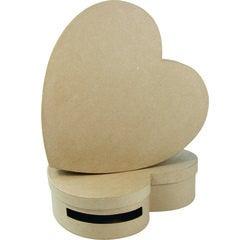 Achat en ligne Urne en forme de cœur à décorer en papier mâché 9x36x36cm