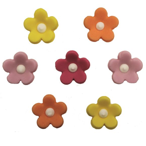 Achat en ligne 7 fleurs multicolores en sucre 13g