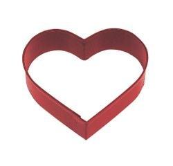 Achat en ligne Emporte-pièce petit coeur rouge en métal revêtu 8cm
