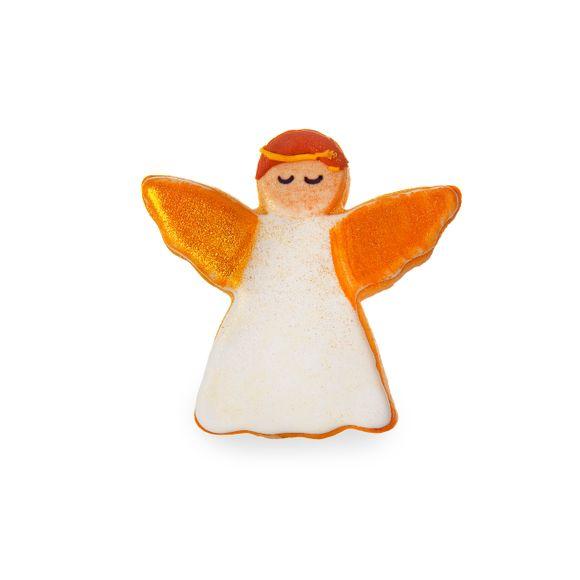 Tagliabiscotti angelo bianco in metallo rivestito da 8,5 cm