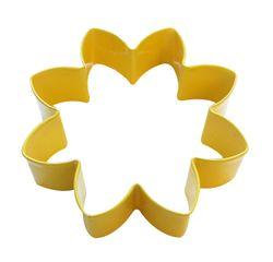 acquista online Tagliabiscotti fiore giallo in metallo verniciato da 9 cm