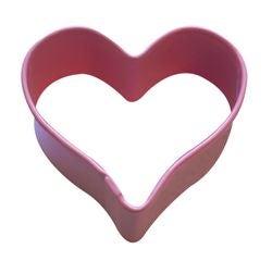 acquista online Tagliabiscotti cuore rosa in metallo verniciato da  5 cm
