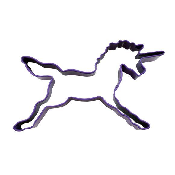 Emporte-pièce licorne violette en métal revêtu 11,5cm
