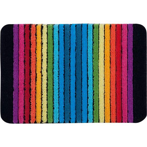 Achat en ligne Tapis de bain 50x70cm anti-dérapant en coton rayé multicolore