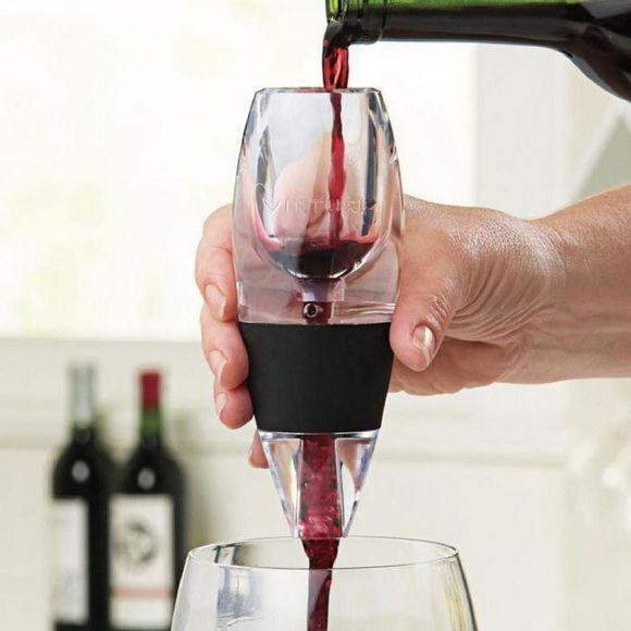Achat en ligne Aérateur à vin rouge transparent