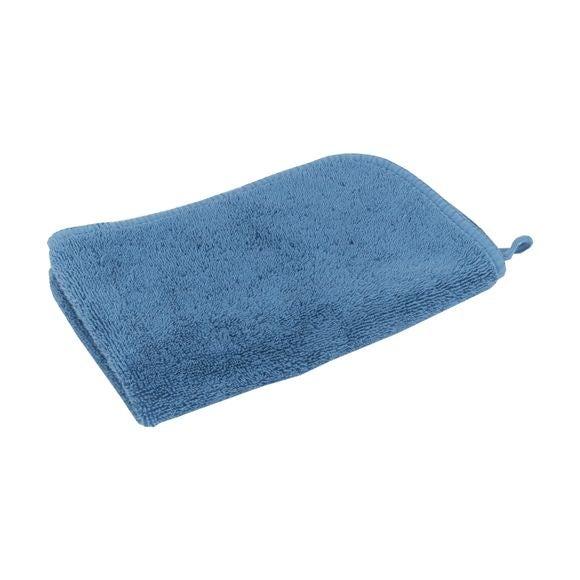 Serviette invité 30x50cm en micro-coton bleu baltique
