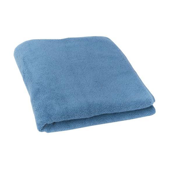 Serviette de douche 70x140cm en micro-coton bleu baltique
