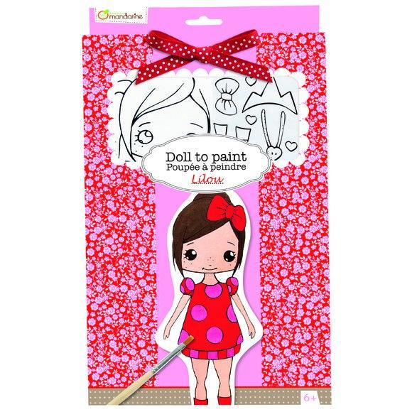 Achat en ligne Kit poupée à peindre lilou