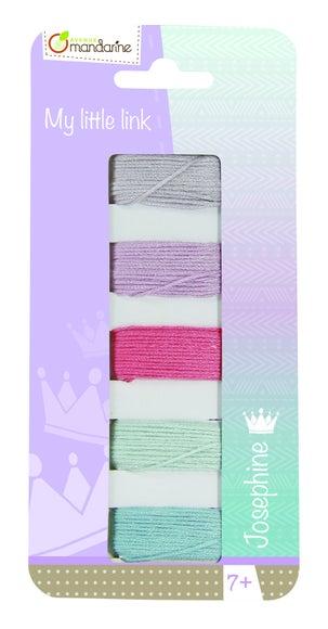 Achat en ligne Set 5 de fils de couleurs pour bracelets brésiliens 3,6m