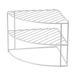 acquista online Ripiano ad angolo arrotondato bianco 26 x 21cm
