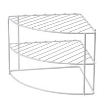 Achat en ligne Etagère d'angle arrondie blanche 26x21cm