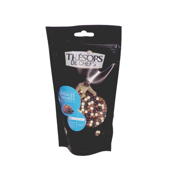 compra en línea Cereales recubiertos de 3 chocolates Tresor Des Chefs (250 gr)