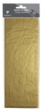 Achat en ligne Papier de soie doré 4 feuilles 50x75cm