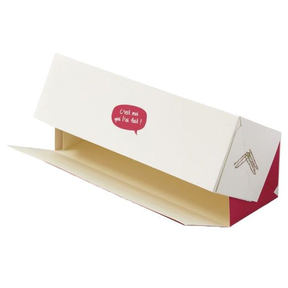 compra en línea Caja transportadora de cartón blanco (35 x 12 x 11 cm)