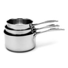 Achat en ligne Lot de 3 casseroles en inox Chef 16, 18 et 20cm