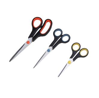 Lot de 3 ciseaux rouge et noir 14,17,21cm