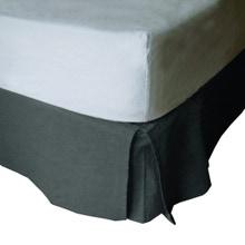 Achat en ligne Cache sommier gris 140X190cm Hauteur 30cm