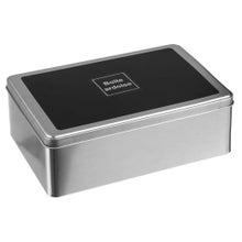 Achat en ligne Boîte à sucre en métal argent avec couvercle ardoise 20cm