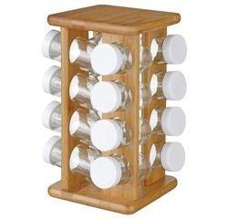 acquista online Portaspezie girevole in bamboo 16 vasetti
