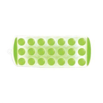 Hielera o bandeja para hacer hielos de plástico verde (21 hielos)
