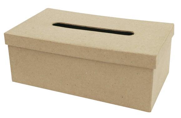 Achat en ligne Boite à mouchoirs rectangle en papier maché 14x25X9cm