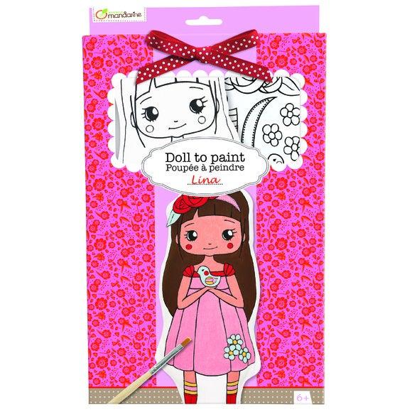 Achat en ligne Kit poupée à peindre lina